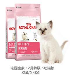 法国皇家 12月龄以下幼猫粮K36/0.4KG*4